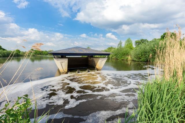 Egy hollandiai víztisztító állomás