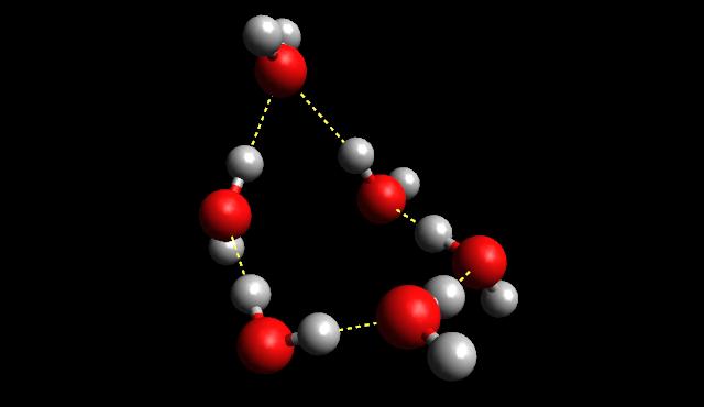metanol-víz elegy, molekulagyűrű