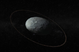 Ring around a dwarf planet found beyond Neptune