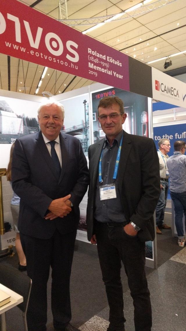 Sierd Cloetingh and Viktor Wesztergom (Director, MTA CSFK Geodetic and Geophysical Institute)