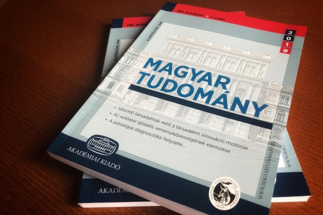 A Magyar Tudomány megújult borítóoldala